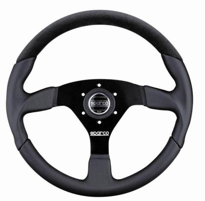 Sparco Steering Wheel L505 Lap 5 Black Leather - Alcantara