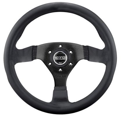 Sparco Steering Wheel Strada Black Leather