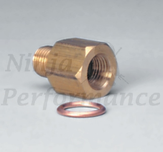 "Oil Pressure/Coolant Temp Sender Adapter 1/8"" NPT TO 1/8"" BSPT #2269"
