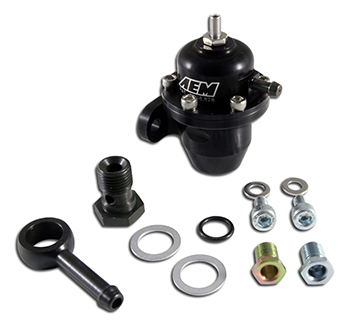 AEM High Volume Adjustable FPR Black 25-303BK