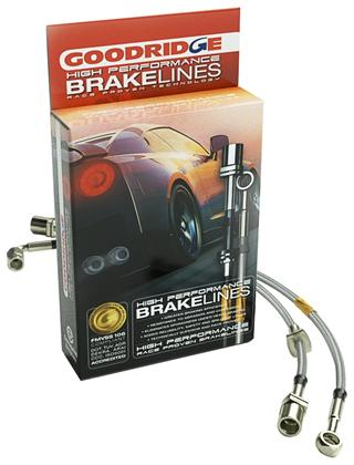 Goodridge GR G-Stop 3000GT Stealth Stainless Steel Braided Brake Lines FWD