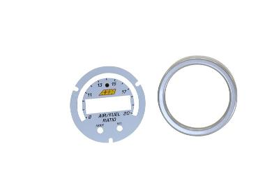 AEM X-Series Wideband Gauge Silver Bezel & White Faceplate Kit 30-0300-ACC