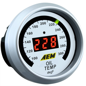 AEM Oil Temp Gauge 100-300F 30-4402