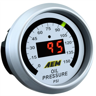AEM Oill Pressure Gauge 0 to 150 psi 30-4407