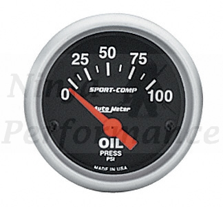 Oil Pressure #3327 Sport Comp Series 52mm