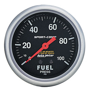 Fuel Pressure 0-100psi #3363 Sport-Comp Series 52mm