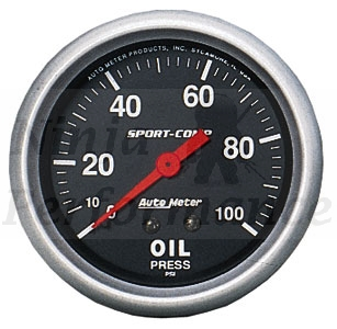 Oil Pressure #3321 Sport-Comp Series 52mm