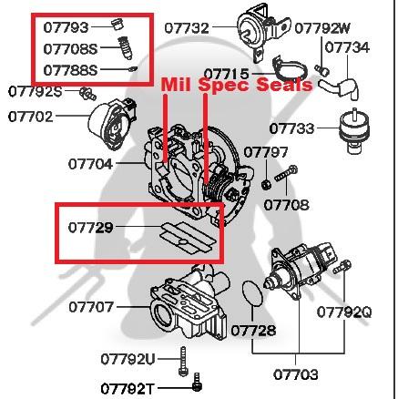 mitsubishi oem 6g72 throttle body rebuild kit