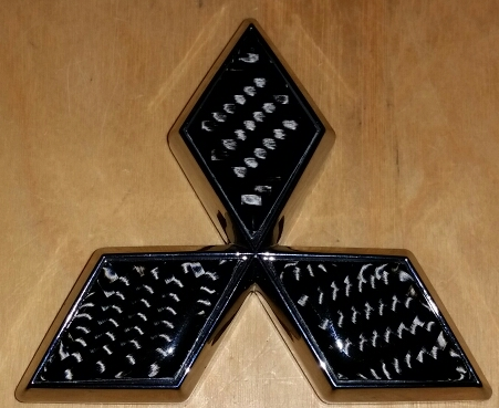 Ninja Performance  Carbon Fiber Mitsubishi Emblem - Chrome Base