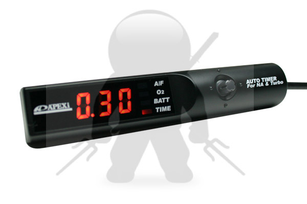 APEXi 405-A021 Full Auto Turbo Timer Black w/ Amber Lighting
