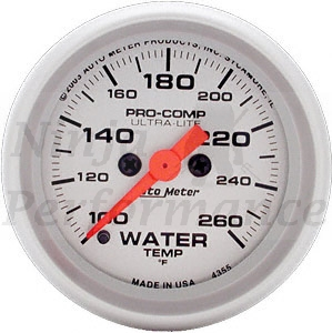 Water Temp #4355  Ultra-Lite Full Sweep 52mm