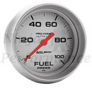 Fuel Pressure 0-100psi #4363 Ultralite Series 52mm
