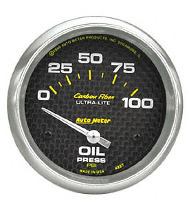 Oil Pressure #4727 Carbon Fiber Series 52mm