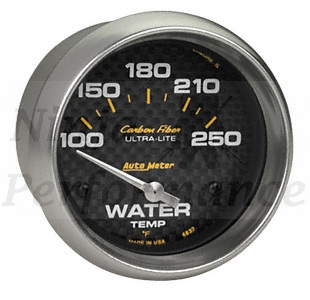 Water Temp #4737 Carbon Fiber-Series 52mm