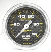 Fuel Pressure 0-100psi #4763 Carbon Fiber Series 52mm
