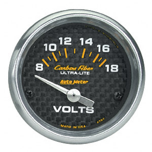 Voltmeter #4791 Carbon Fiber-Series 52mm