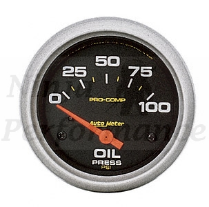 Oil Pressure #5427 Pro Comp Series 0-100psi 2 5/8