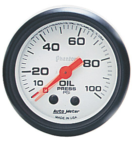 Oil Pressure #5727 Phantom Series 0-100psi 52mm