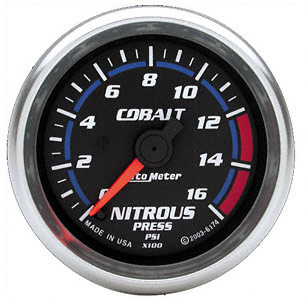 Nitrous Pressure 0-1600psi #6174 Cobalt Series 52mm