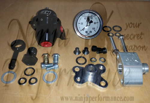 Ninja Performance AEM FPR and Fuel Pressure Gauge Kit