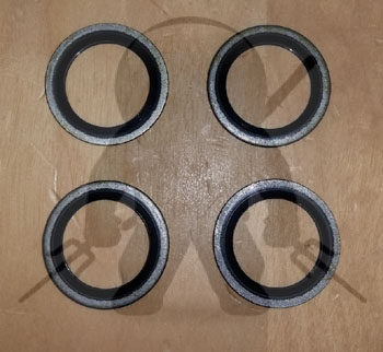 Mitsubishi OEM 3000GT Stealth Oil Cooler Banjo Bolt Gasket Set of 4