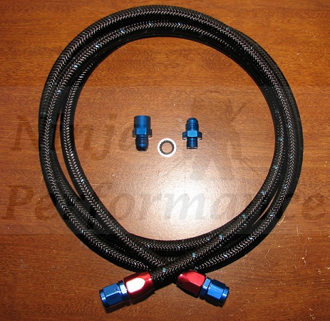 Ninja Performance High Flow Fuel Feed Line Kit - E85 Compatible