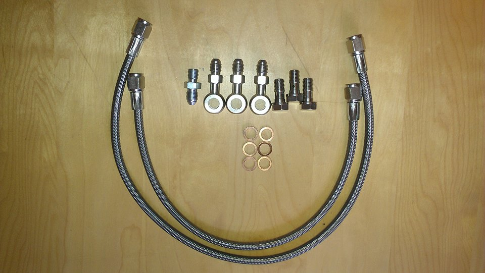 Ninja Performance 3000GT/Stealth SS Braided Turbo Oil Feed Kit