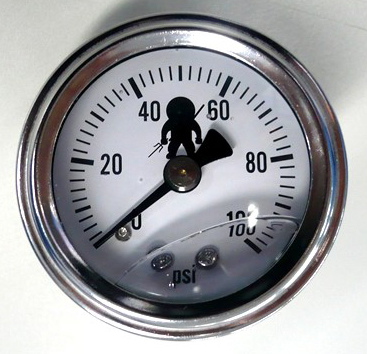 Ninja Performance 0-100 PSI Fuel Pressure gauge 1.5""