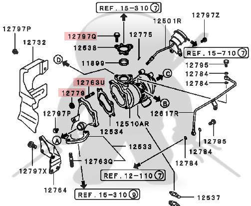 Amazing Mitsubishi Oem Td04 Turbo Fastener Kit Front Wiring Digital Resources Sapredefiancerspsorg