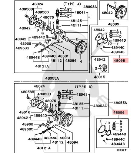 Pleasing Mitsubishi Oem 3000Gt Stealth Power Steering Pump Rebuild Seal Kit Wiring Digital Resources Minagakbiperorg