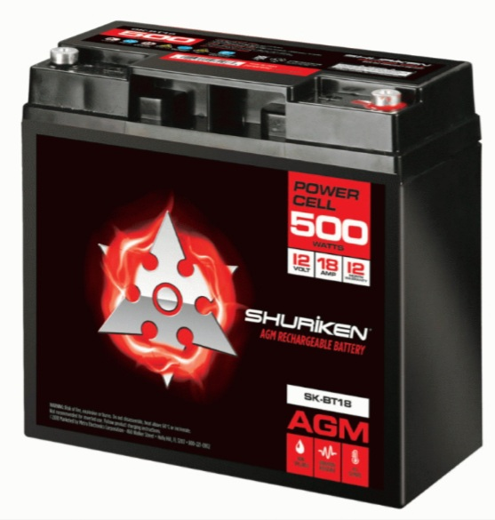 SHURIKEN Compact Size AGM Battery Track Car SK-BT18