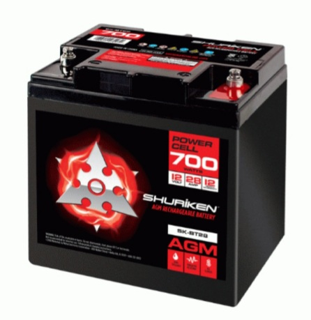 SHURIKEN Compact Size AGM Battery Street Car SK-BT28