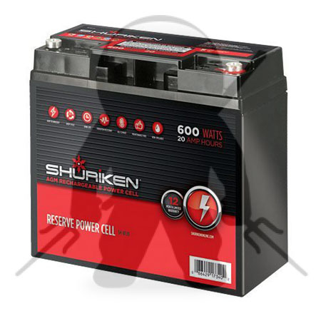 SHURIKEN 600W / 20AMP HOURS Compact Size AGM 12V Battery