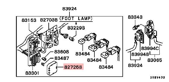 Mitsubishi OEM 3000GT Stealth Fuse Box Cover Interior