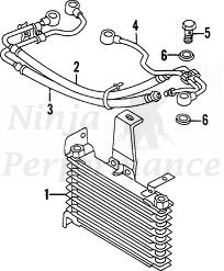 Mitsubishi OEM 3000GT Stealth Oil Cooler Return Hose Hardline