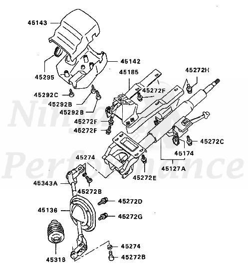 mitsubishi oem steering column bolt 8x30  45272c
