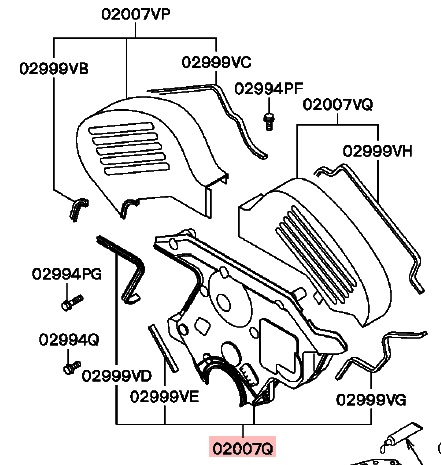 Mitsubishi OEM 6G72 DOHC Lower Timing Cover 93-99