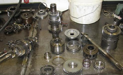 Gears and internal parts